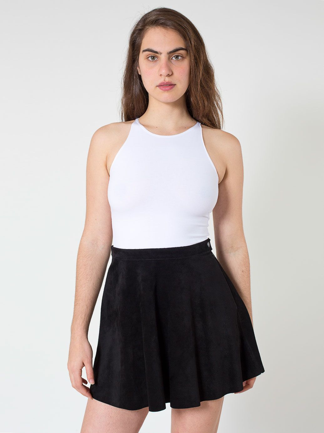 suede leather circle skirt american apparel