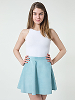 Suede Leather Circle Skirt