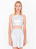 Hologram Leather Circle Skirt