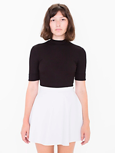 Lambskin Leather Circle Skirt