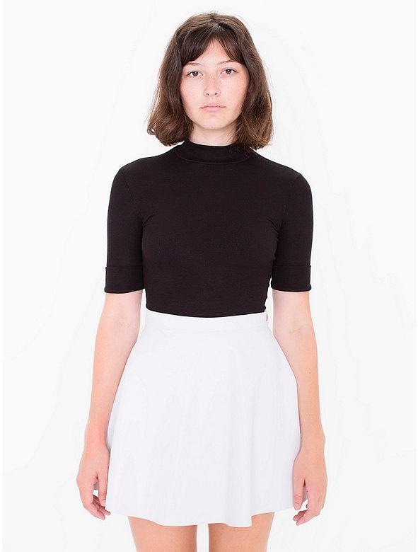 Lambskin Leather Circle Skirt
