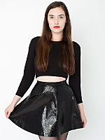 Printed Leather Circle Skirt