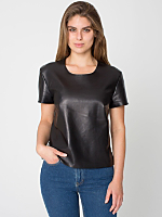 Two-Sided Leather T-Shirt