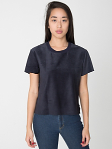 Suede Leather T-Shirt