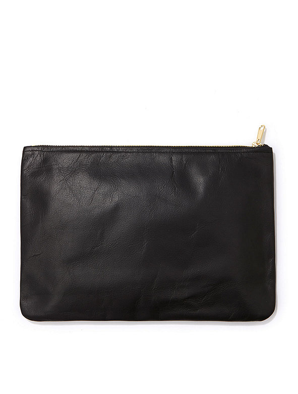 Medium Leather Carry-All Pouch