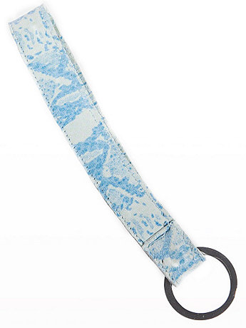 Printed Leather Strap Keychain