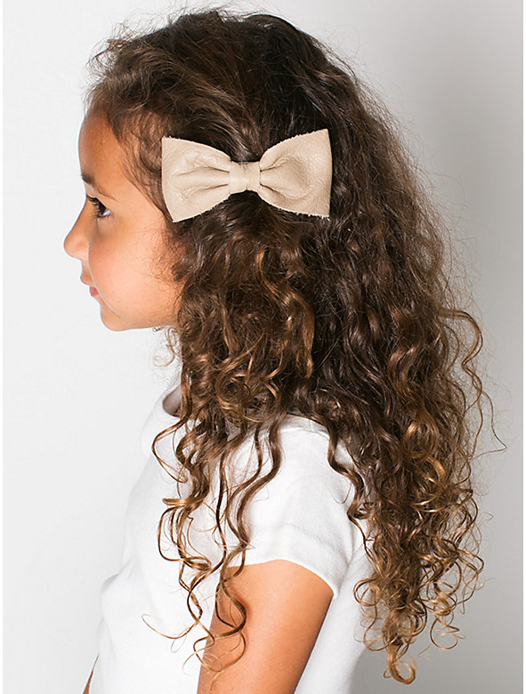 Kids' Leather Bow Clip