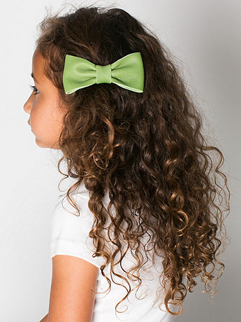 Kids Leather Bow Clip