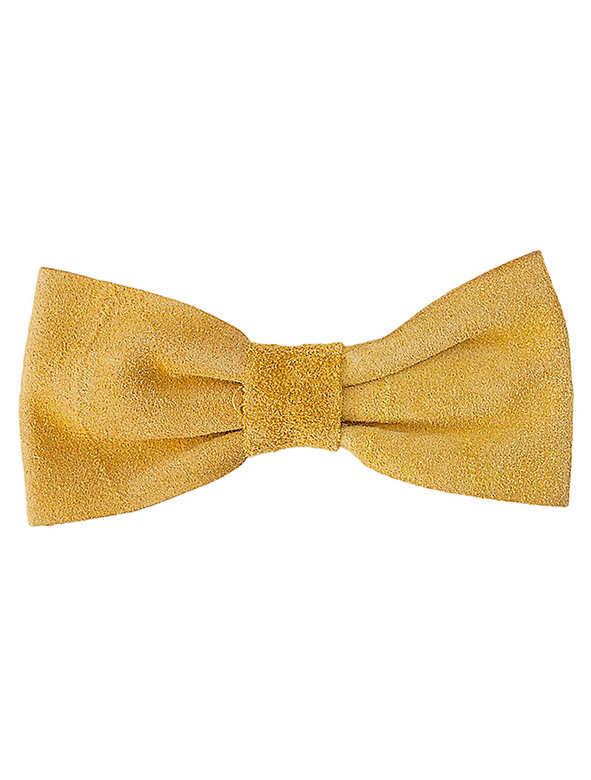 Suede Leather Bow Clip