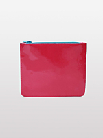 Small Patent Leather Carry-All Pouch