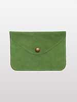 Small Suede Envelope Clutch