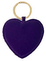 Leather Heart Shape Key Ring