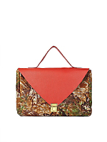 Red Camouflage Leather Envelope Case