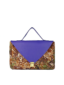 Imperial Purple Camouflage Leather Envelope Case