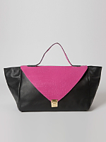 Black & Pink Leather Envelope Case