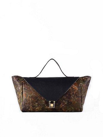Black Camouflage Leather Envelope Case