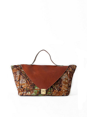Tan Camouflage Leather Envelope Case