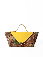 Yellow Camouflage Leather Envelope Case