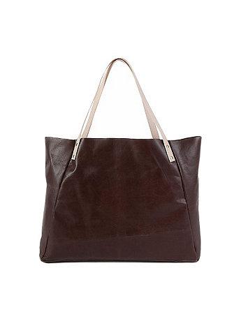 L'Epicier Two-Tone Contrast Leather Bag