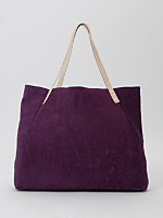 L'Epicier Two-Tone Contrast Leather Bag