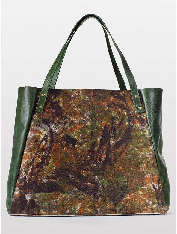L'Epicier Two-Tone Leather Bag