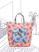 Nathalie Du Pasquier Primary Zeta Printed Sturdy Leather Tote
