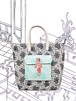 Nathalie Du Pasquier Bright Zeta Printed Sturdy Leather Tote