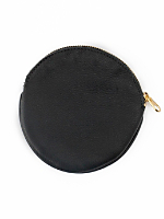 Round Leather Coin Purse