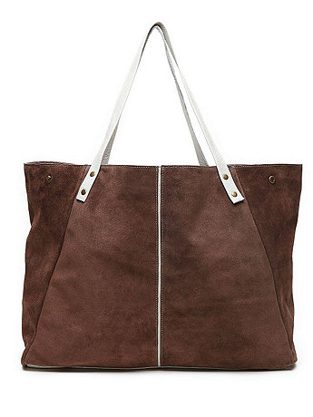Leather Striped Tote