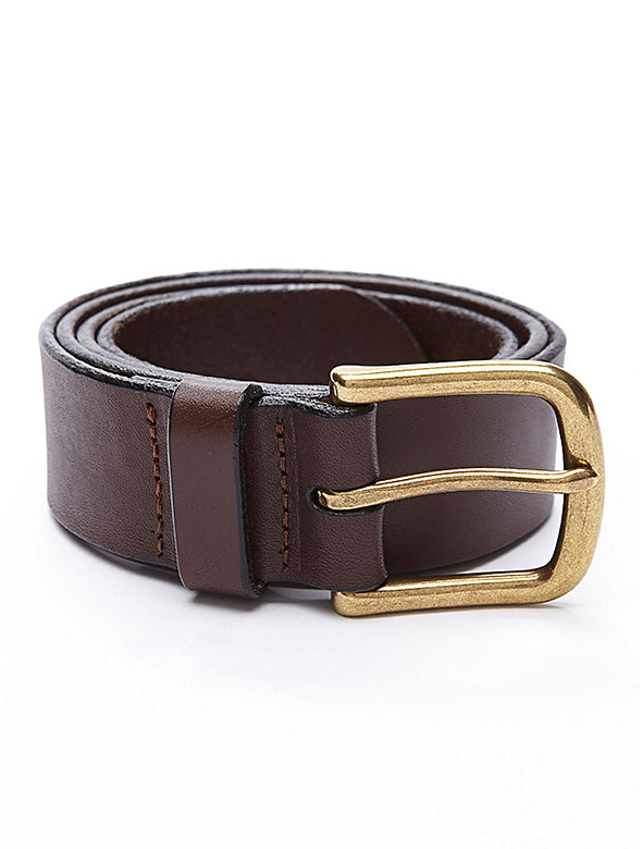 Flat Edge Leather Belt