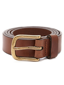 One Inch Flat Edge Leather Belt