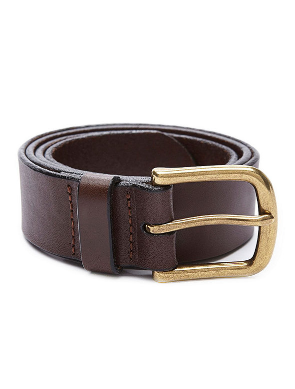 One Inch Flat Edge Leather Belt