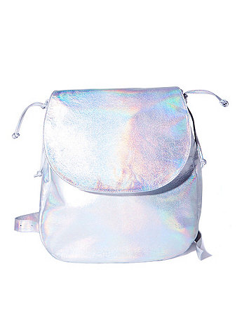 Hologram Silver Laser Backpack