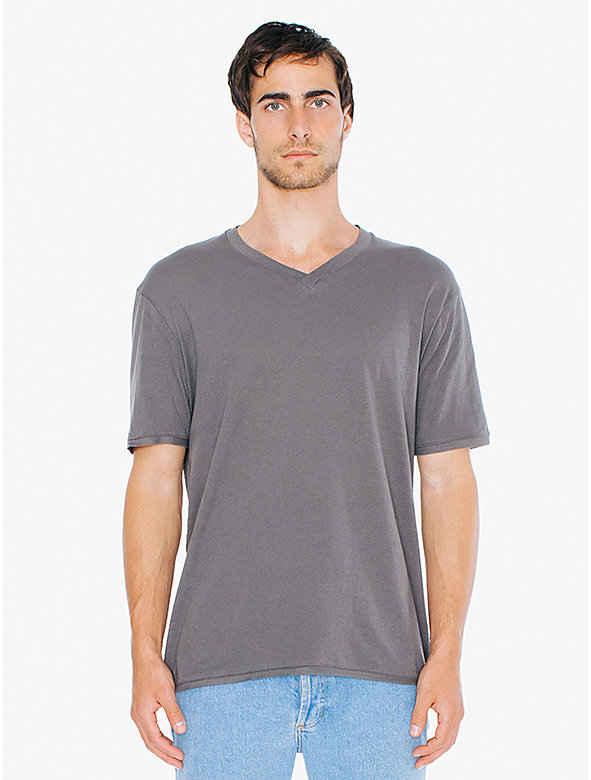 40/1 Cotton Crossover V-Neck T-Shirt