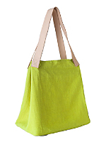 Linen & Leather Oversized Tote