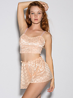 Lace Ribbon Lingerie Short
