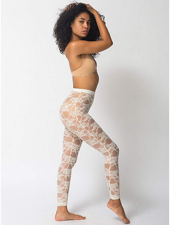 Stretch Floral Lace Stirrup Legging