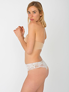 Stretch Floral Lace Thong