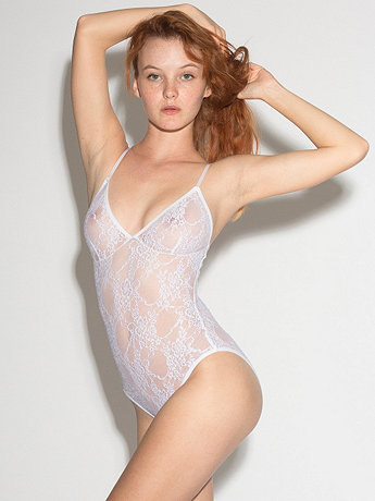 Nylon Spandex Stretch Lace Bra Bodysuit
