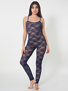 Stretch Floral Lace Unitard