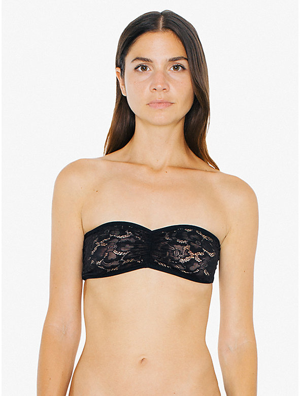 Dahlia Lace Ruched Front Tube Bra