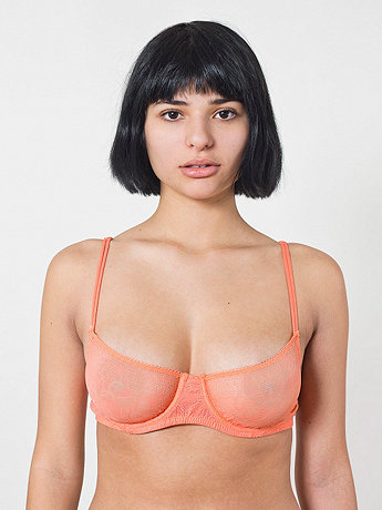 Abstract Lace Demi Bra