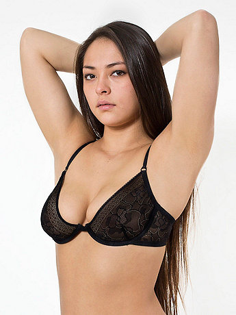Abstract Lace Full Coverage Bra