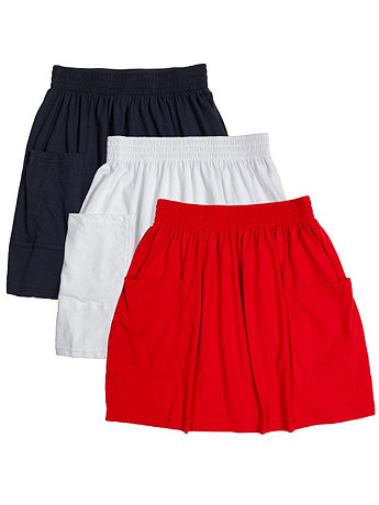 Jersey Pocket Skirt (3-Pack)