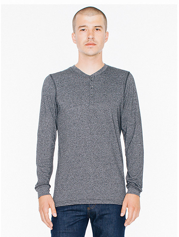 Mock Twist Henley Long Sleeve T-Shirt