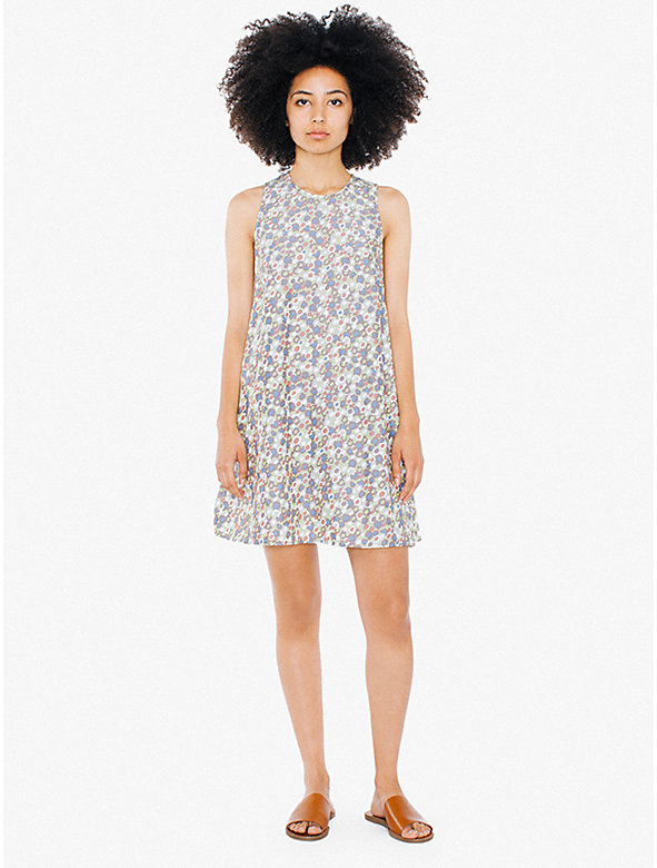 Printed Faux Silk Dakota Mini Dress