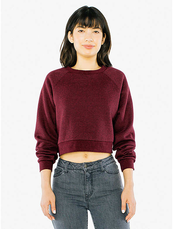 Mock Twist Cropped Pullover