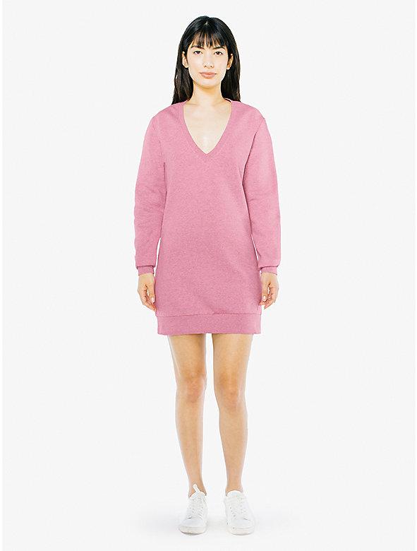 Peppered Fleece V dress