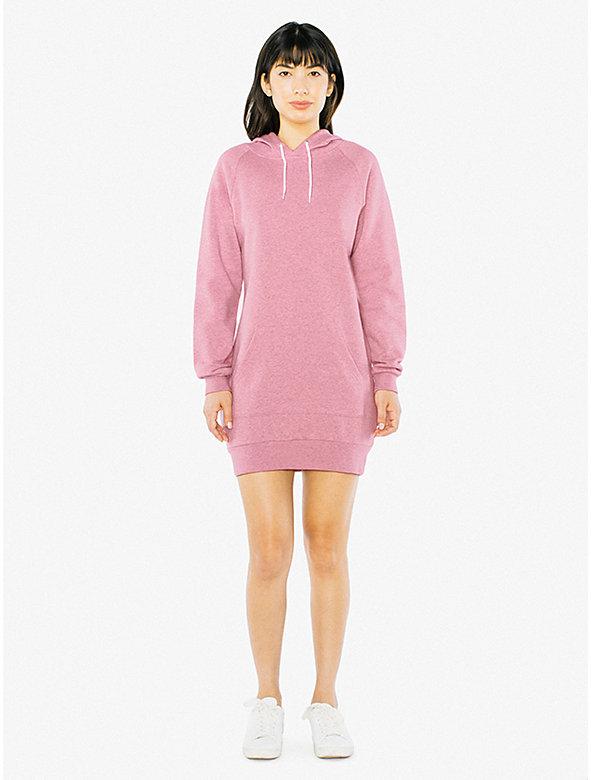 Peppered Fleece Hoodie Dress