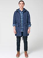 Cotton-Nylon Blend Long Jacket